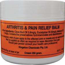 ARTHRITIS & PAIN RELIEF BALM 250g CREAM LARGE TUB HERBAL *100% AUSTRALIAN MADE*