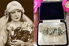 Vintage Art Deco Large Diamond Paste Pave Duette Dress Clips Brooch. Bridal Gift