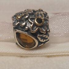 AUTHENTIC PANDORA~DEW DROPS, Orange Moonstone 14k Gold, Silver, Charm 790540MSO
