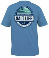 Salt Life Mens Scenic State of Mind Short Sleeve Graphic T-Shirt - XL & L - NWT