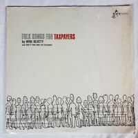 Folk Songs for Taxpayers-Wini Beatty w Rhett Fink & Folkniks 1966 Key Records NM