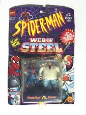 TOY BIZ SPIDERMAN WEB OF STEEL SPIDERMAN VS KINGPIN ACTION FIGURE