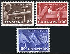 Denmark 606-608, Mnh. Danish Crafts, 1977