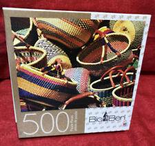 Milton Bradley Big Ben 500 Piece Jigsaw Puzzle Baskets