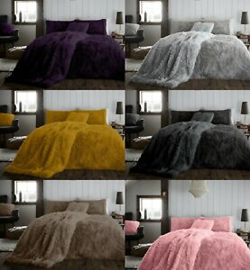 SNUG HUG FLUFFY Teddy WARM FLEECE LUXURY Duvet Quilt Cover Or Throw All Sizes