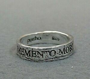 pyrrha Memento Mori Latin Motto Band Ring size 5.5