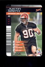 2002 NFL Showdown JUSTIN SMITH Cincinnati Bengals 1ST & Goal Rare Card