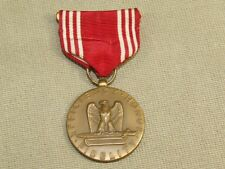 WWII USA Military Medal w/ Pin & Ribbon Efficiency Honor Fidelity Good Conduct