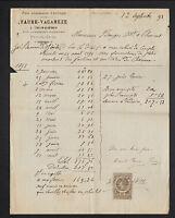 """CHAMALIERES (63) USINE de PATES ALIMENTAIRES """"FAURE & VACAREZE"""" en 1891"""