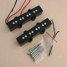 Pair of Noiseless Pickups Bridge & Neck For Fender Jazz Bass JB Guitar Black