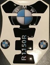 Motorcycle Tank Pad Protector Sticker | (Bmw) R1150R Black with side Stickers