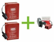 Power Wheels 12 v Red Batteries and Charger