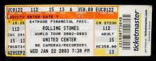 THE ROLLING STONES-Original 2003 Concert Ticket-United Center, Chicago-Jagger