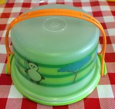 Kid's Tuppertoy Tupperware Cake Taker MINI Eco Animals Play Food NEW