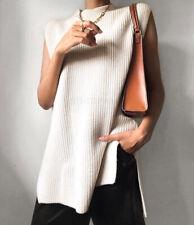 H&M Beige Rib Knit Slipover Sweater Vest - Medium
