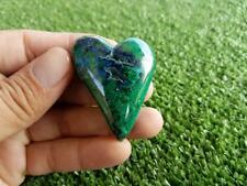 37 mm AZURITE WITH MALACHITE HEART HIGH GRADE NATURAL *PERU**
