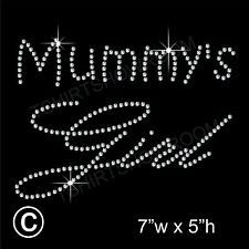 Mummy's Girl Rhinestone/Diamante Transfer Hotfix Ironon Motif with a Free Gift