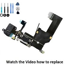 iPhone 5 5G USB Charging Dock Port & Mic & Headphone Jack Flex Cable - BLACK