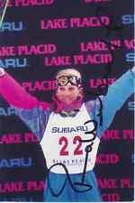 Donna weinbrecht estados unidos ski freestyle original firmado 374410