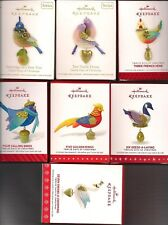 Hallmark Series Ornaments Twelve Days of Christmas 2011-2017 Partridge Pear Lot