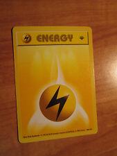 PL 1st edition LIGHTNING ENERGY Pokemon Card BASE Set 100/102 Common Shadowless
