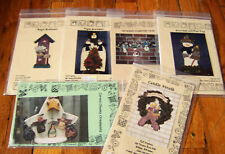 Lot of Six Tlc Crafters Christmas Woodworking Patterns All Uncut