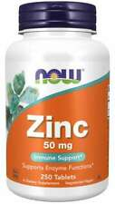 Zinc 50 mg. 100 Tablets by Now Foods