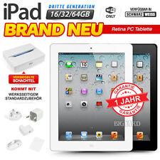 Neu Versiegelt APPLE iPad 3rd Gen Schwarz Weiß 16 32 64GB Retina PC Tablet WiFi