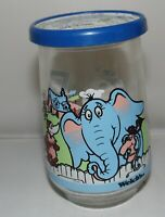 Welchs Jelly Jar Glass Dr Seuss Horton and Friends Glass with Lid