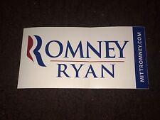 Mitt Romney Paul Ryan Republican GOP 2012 President Campaign Bumper Sticker