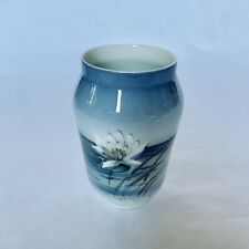 Vintage Royal Copenhagen Denmark - Dragonfly and Waterlily Vase