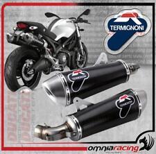Termignoni D102 Terminali Scarico Racing 94 Carbonio Ducati Monster 1100 10>13