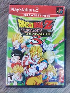Dragon Ball Z Budokai Tenkaichi 3 PS2. Greatest Hits has 1 disc.case tough shape
