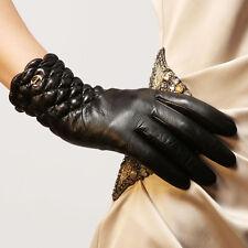 Ladies Woman Genuine Nappa Leather Dress Warm Gloves Many Color On Sale #EL005NC