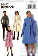 Butterick Sewing Pattern B6497 6497 Women's Coat Sewing 16-18-22-24 NEW