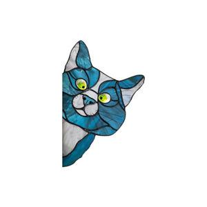 Sun Catcher Cat Dog Kitten Stained Glass Window Sticker Suncatcher Home Decor