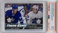 2016 2017 Auston Matthews & Nylander UPPER DECK YOUNG GUNS ROOKIE CARD RC PSA 9