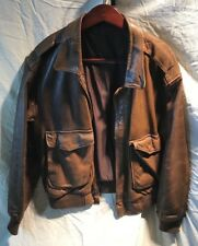 Leather Bomber Jacket, ReFurbished by Sporty's, Size L, Very Nice Condition!