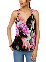 INC Women's Floral Print Tank Top (Luxe Rose)