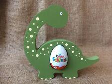 Freestanding 18mm hand painted shabby chic dinosaur kinder egg holder-Easter