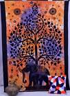 Indian Elephant Tapestry Tree of Life Wall Hanging Hippy Coverlet Twin Bedspread