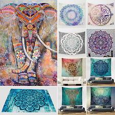 Elephant Mandala Tapestry Indian Boho Beach Yoga Mat Home Bedspread Wall Decor