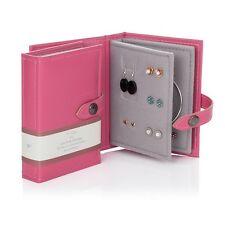 Piccolo piccolo libro di orecchini rosa 2 pagina PORTAGIOIE libro viaggi DIMENSIONI REGALO