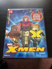 4 Pk Minimates Marvel XMen Figure DVD Set Wolverine Juggernaut Magneto Cyclops