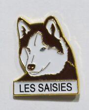 PINS LES SAISIES 73 SAVOIE STATION SKI CHIEN TRAINEAU HUSKY MUSHER METAL EPAIS
