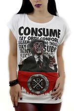 Disturbia Consume Women T-Shirt punk grunge SIZE M