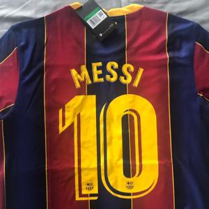 Barcelona FC #10 Messi Home Soccer Jersey 2020-2021 La Liga Football Men's Shirt