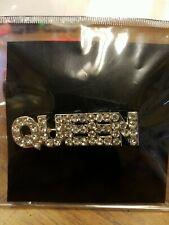 Mardi Gras Queen broach or pin, Queen broach, costume jewelry