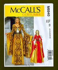 Medieval Era Gown, Dress Queen Costume Sewing Pattern (Sizes 14-22) McCalls 6940