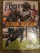BECKETT FOOTBALL CARD MONTHLY PRICE GUIDE FEB 2020 LAMAR JACKSON COVER New